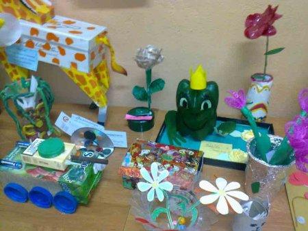 Поделки из мусора на конкурс в школу