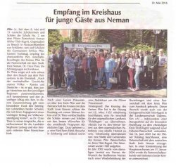 О нас пишут в немецких газетах «НОВОСТИ КИЛЯ!»