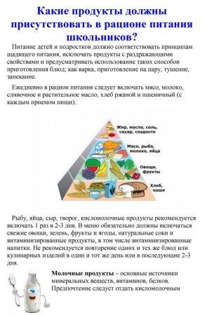 Какие продукты должны присутствовать в рационе питания