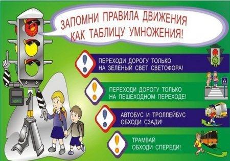 Помни и соблюдай правила дорожного движения!